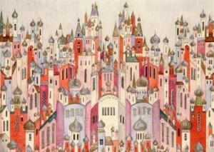 Natalia Goncharova: Sketch for backdrop for Stravinsky's Firebird