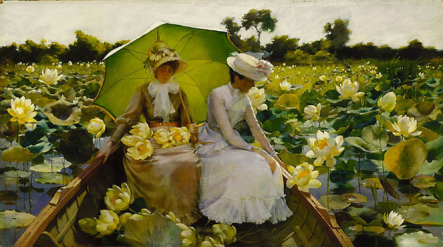 Lotus Lilies by Charles Courtney Curran (1888)