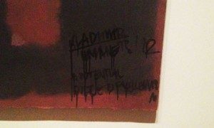 Defaced Rothko painting at Tate Modern