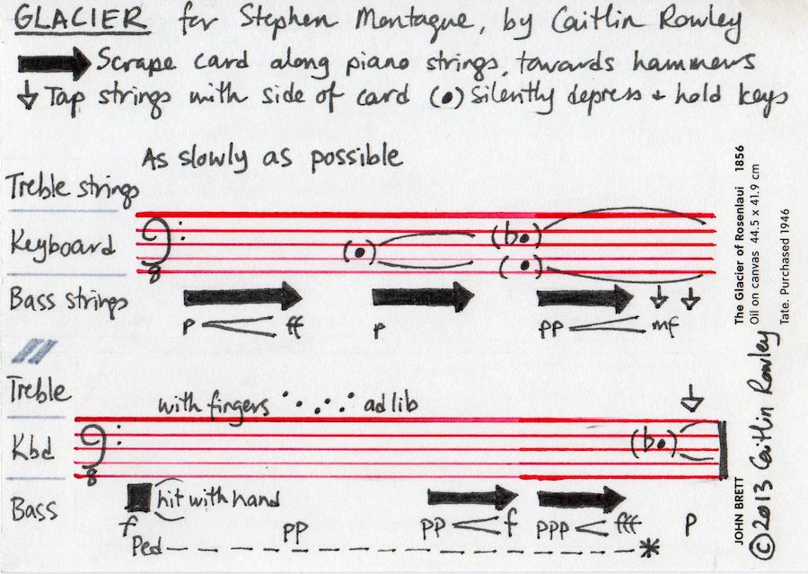 Glacier, for Stephen Montague - score